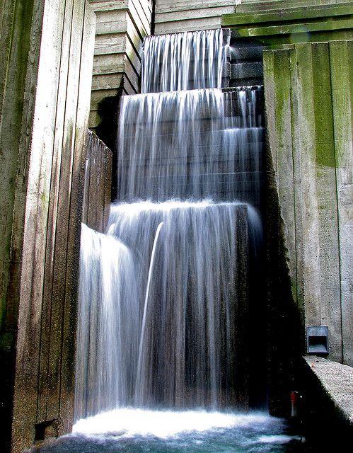 Urban waterfall downtown seattle seattle area and seattle for Urban waterfall design