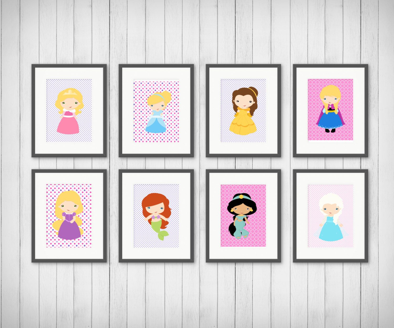 Princess wall art princess room nursery print girls room decor