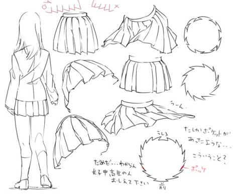 Skirts Drawing Tutorial Drawings Drawing Clothes