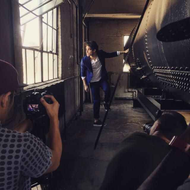 Behind the Scenes with@hedwigonbway star @darrencriss as he shoots an upcoming Broadway Style Guide feature! 2015