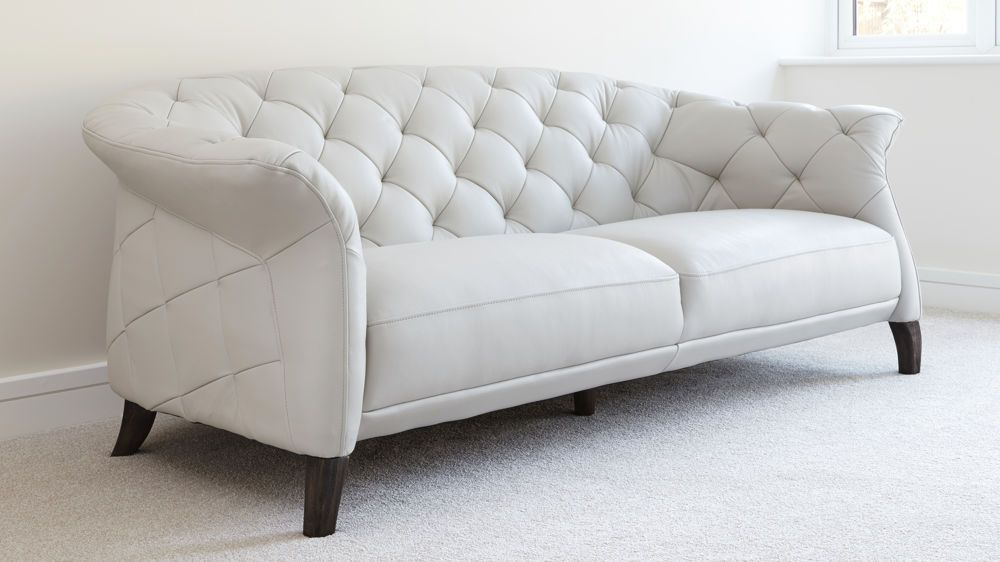 Luxe Modern 2 To 3 Seater Leather Chesterfield Sofa Modern
