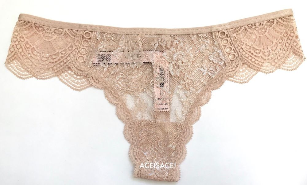 edcf940075 NWT  Victoria s Secret DREAM ANGELS FLORAL LACE THONG PANTY--SUGAR BABY  (F46)--M  VictoriasSecret  ThongsString  Glamour