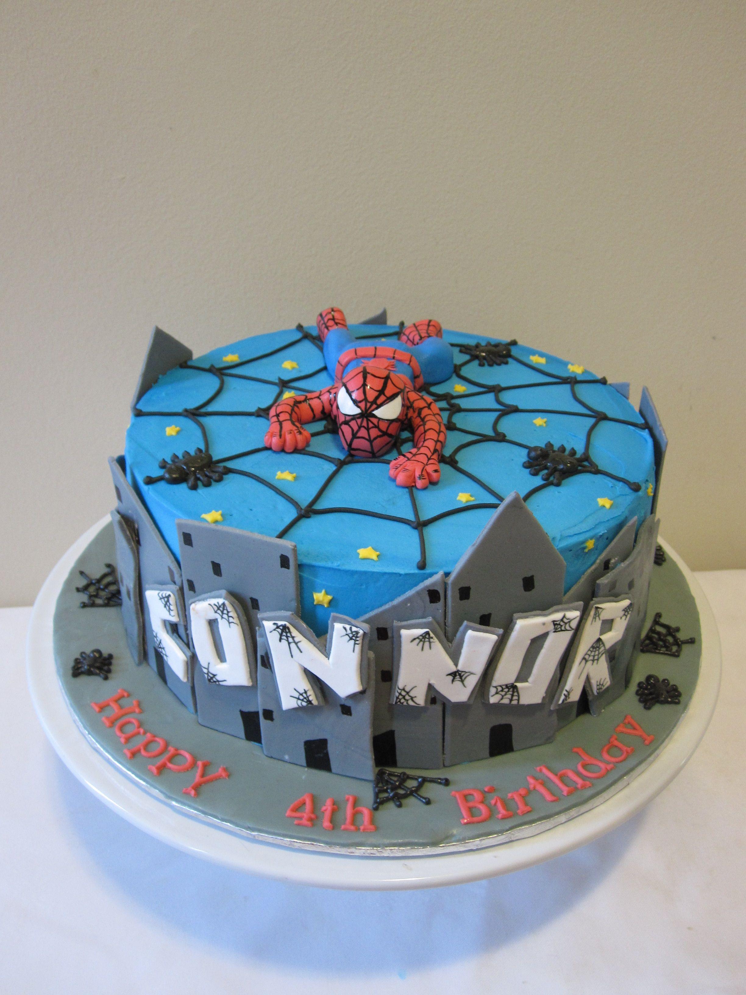 Spiderman cake cakes Pinterest Cake Superhero cake and