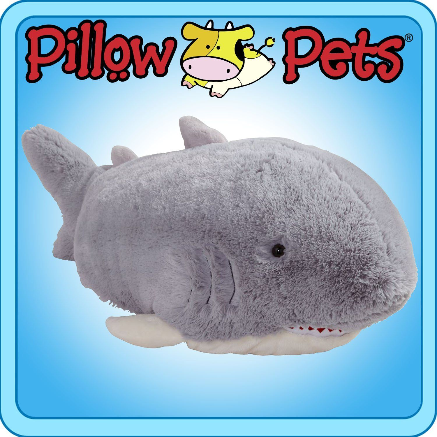Pillow Pets Grey Pillow Pet Peewee Shark 11 Ahhhhh Animal