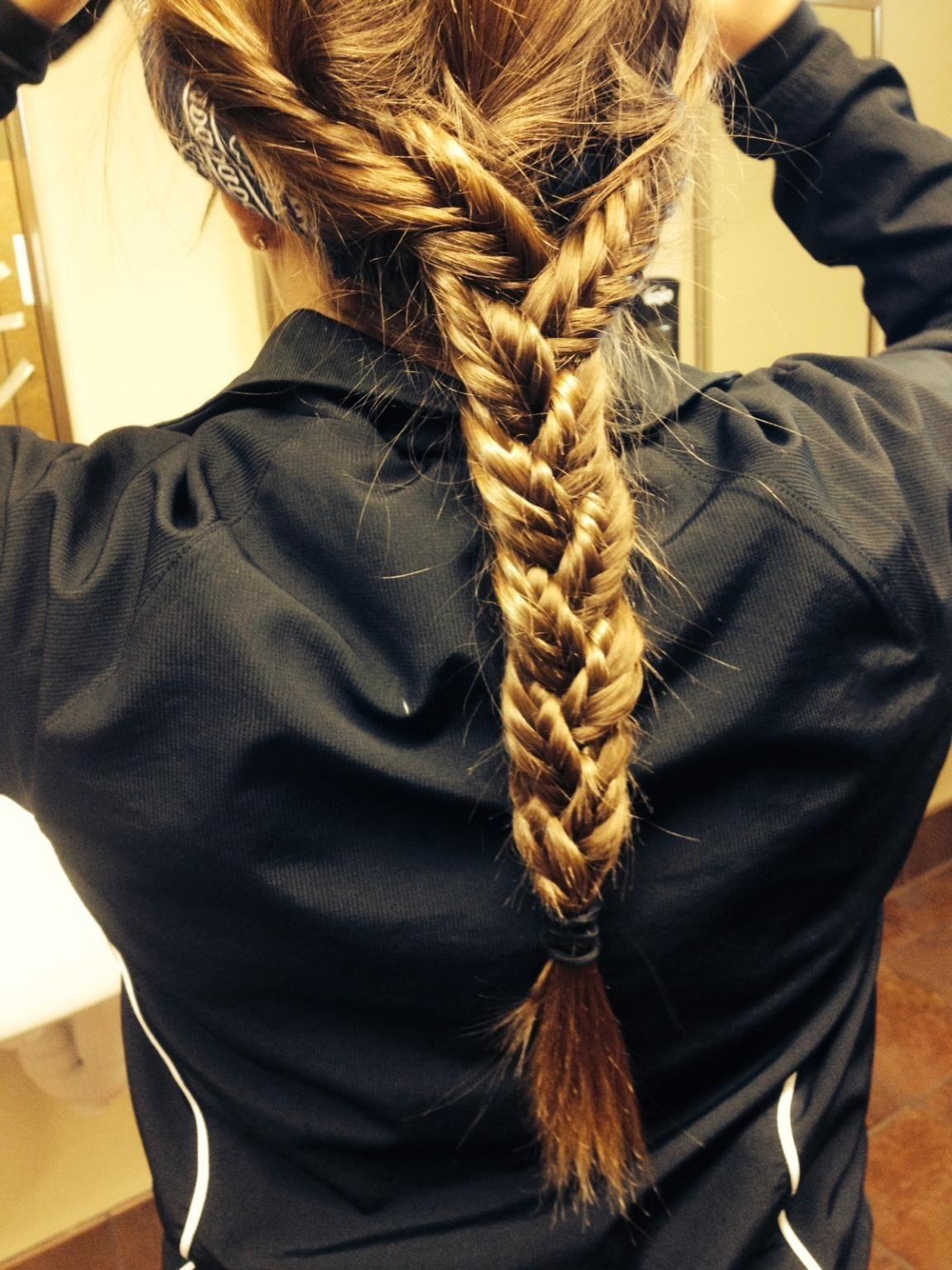 fishtail braid bandana braids