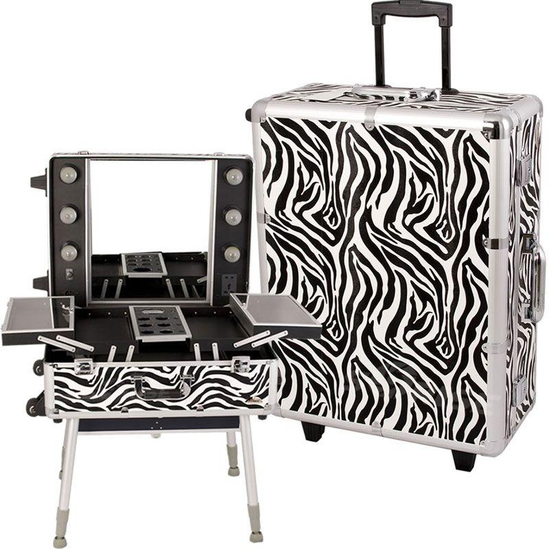 C6010 Sunrise Zebra Makeup Case with Light Zebra makeup