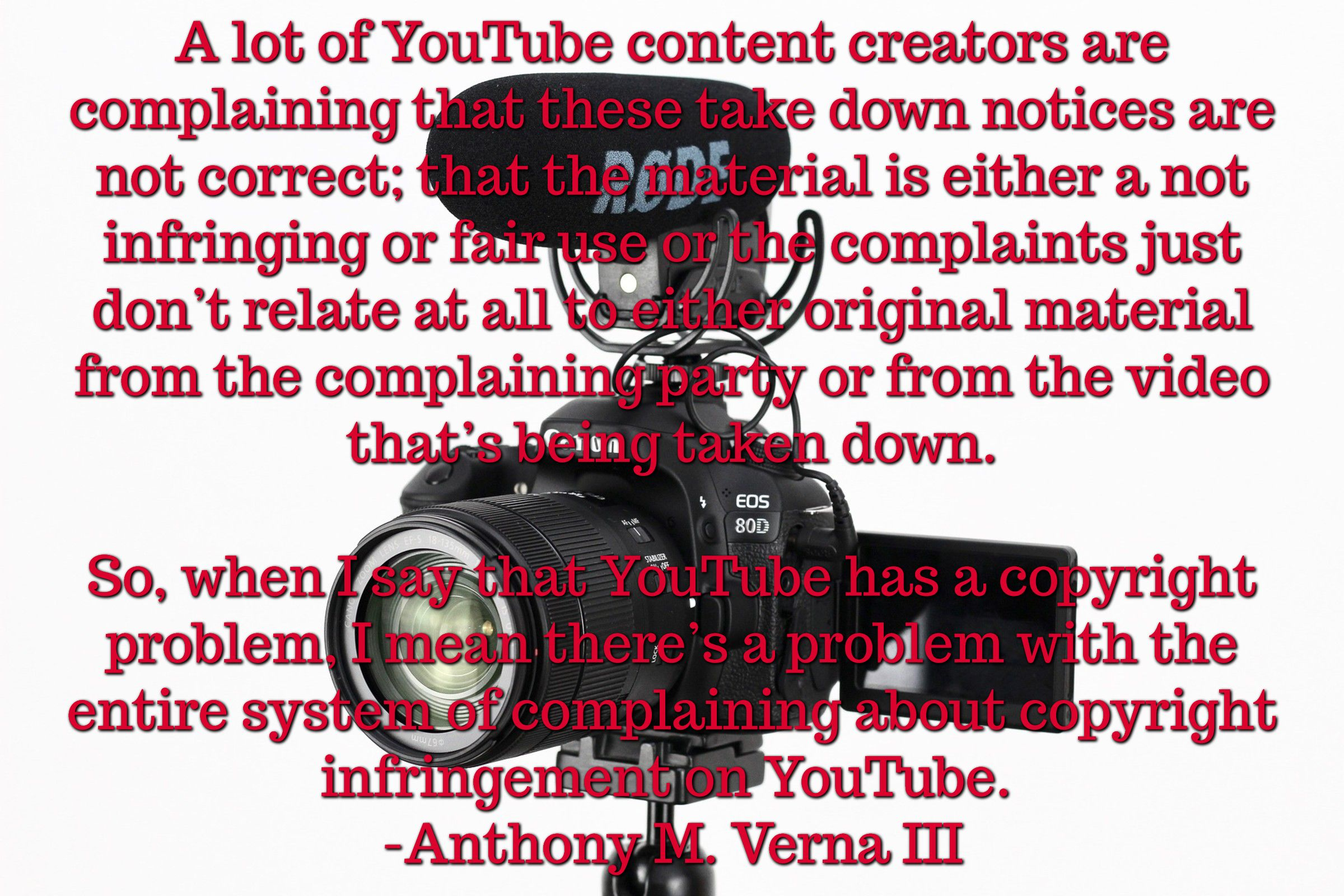 A Lot Of Youtube Content Creators Are Complaining That These Take Down Notices Are Not Correct That The Material Is Either A Not Infrin Video Youtube Fair Use