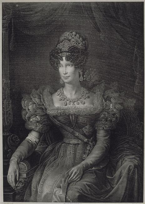 1820s Marie Louise, Duchess of Parma by Augusto Bighi after Giovanni Battista Callegari (Châteaux de Malmaison et Bois-Préau, Malmaison France)