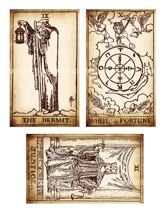 Antique Tarot Card The Fool: Antique Printable Tarot PDF Digital Collage Sheet Altered