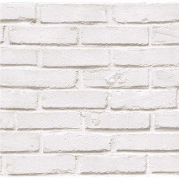 papier peint papier brique loft blanc   leroy merlin   idees deco