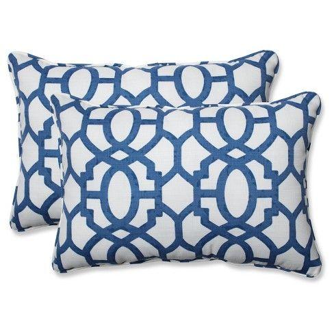 Outdoor Indoor Nunu Geo Ink Blue Over Sized Rectangular Throw Pillow Set Of 2 Pillow Perfect Throw Pillows Perfect Pillow Throw Pillow Sets