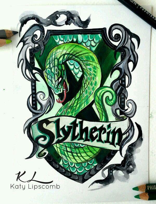 Slytherin House Logo Harry Potter Drawings Harry Potter Art