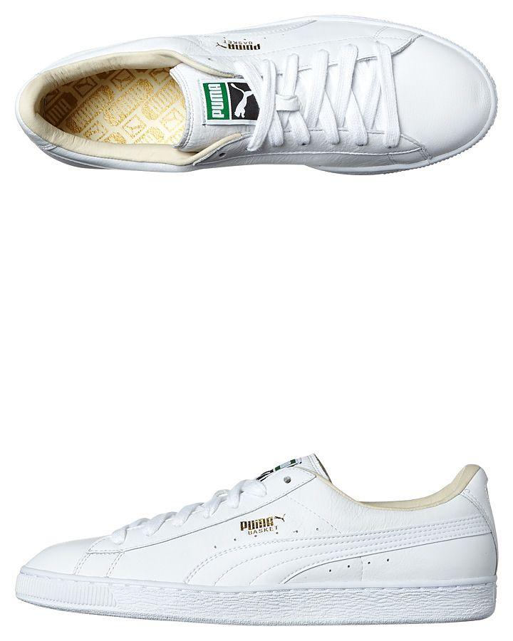 puma basket classic leather white