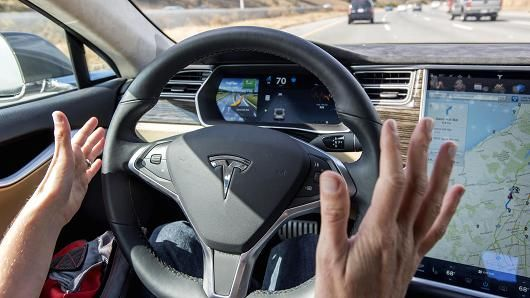 Tesla Rolls Out Autopilot Technology Tesla Self Driving Automatic Driving Lessons