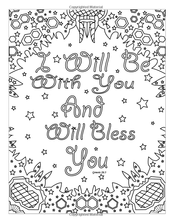 Amazon Adult Coloring Book Bible Verse Inspirational Blessings