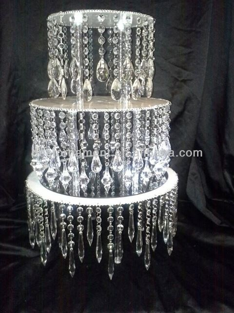 Source Acrylic Crystal Chandelier Wedding Cake Stand On Malibaba - Chandelier crystals diy