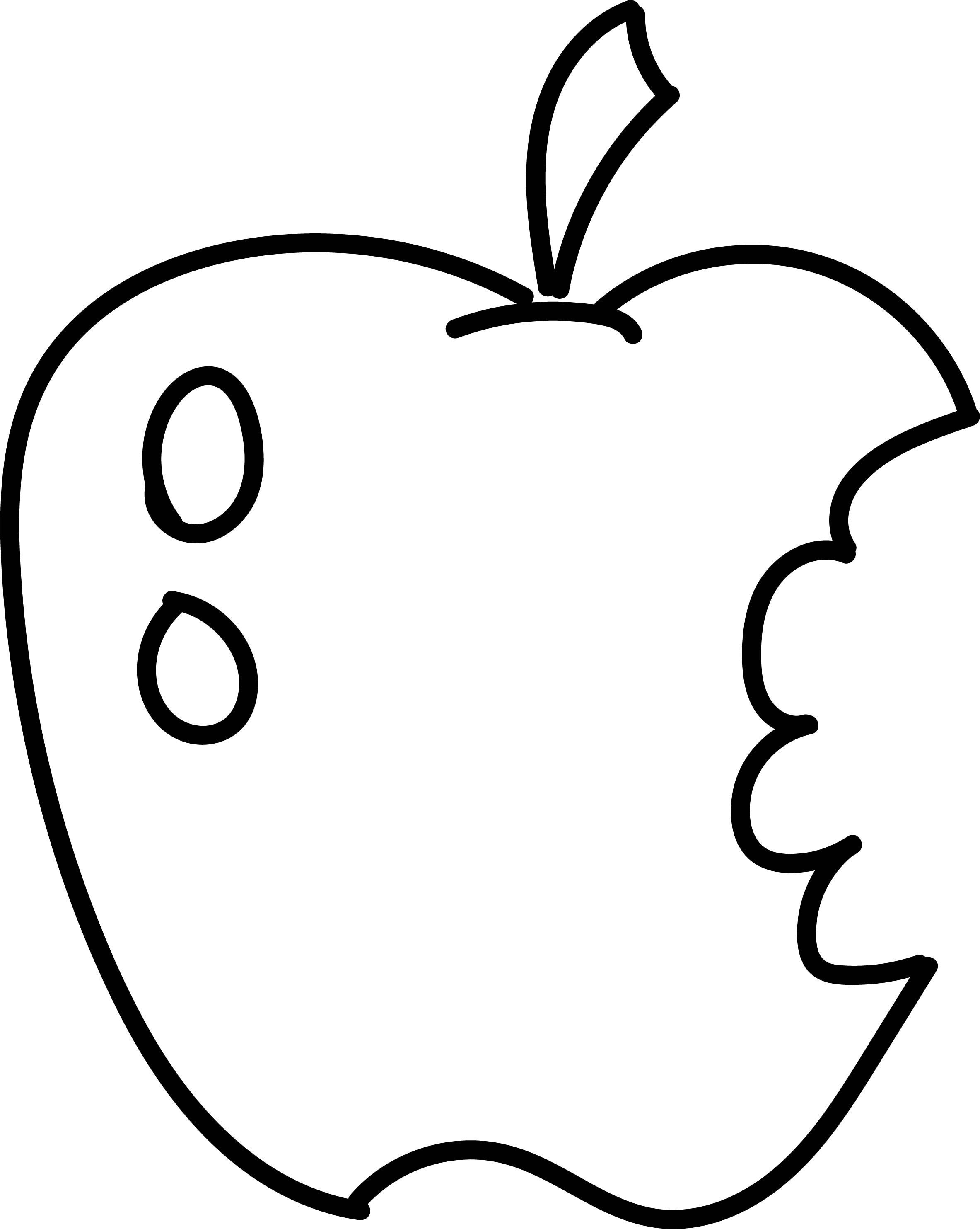 Nice Eating Apple Coloring Page With Images Apple Coloring