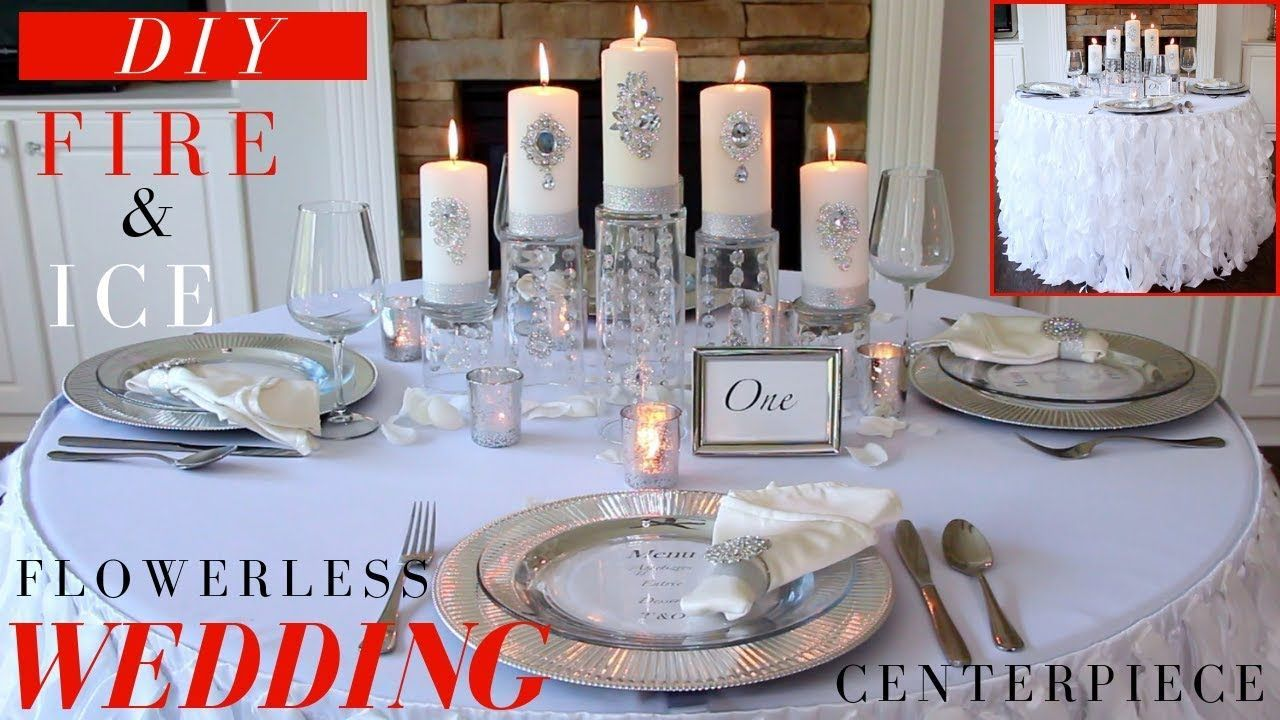 Blumenloses Hochzeitsmittelstück   DIY Hochzeitsdekoration Ideen   Feuer & Eis Winte …   – flowerless wedding centerpieces / wedding  lights