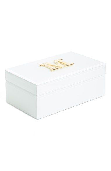 American Atelier Initial Jewelry Box Nordstrom Gift Ideas for