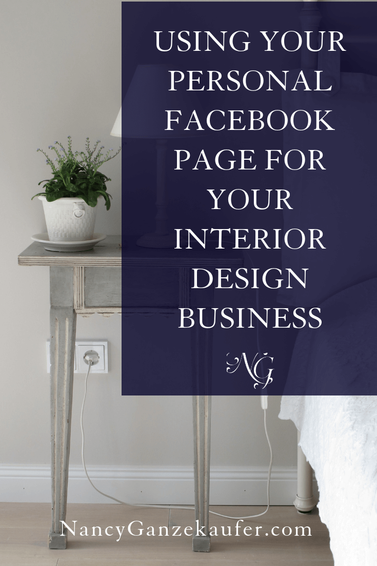 Using Your Personal Facebook Page For Your Design Business