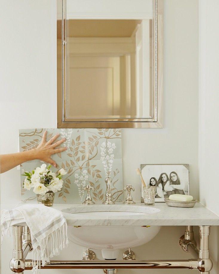 pictures to hang in master bathroom%0A Cole  u     Son Egerton wallpaper Michelle u    s bathroom l Gardenista