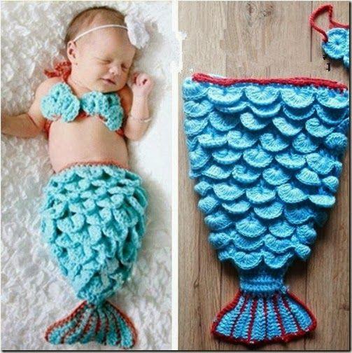 disfraz de sirena bebe (2) | CROCHET | Pinterest | Babysachen