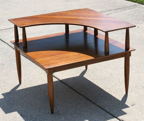 Willett mid century modern cherry square corner table antique willett mid century modern cherry square corner table antique helper watchthetrailerfo