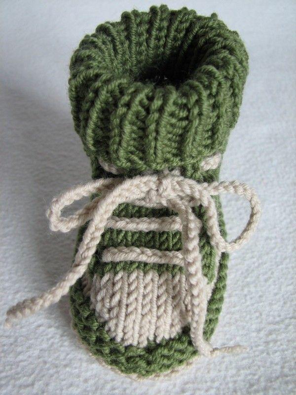 Baby-Schuhe stricken - DIY-Baby-Turnschuhe ✓ | Baby - Stricken und ...