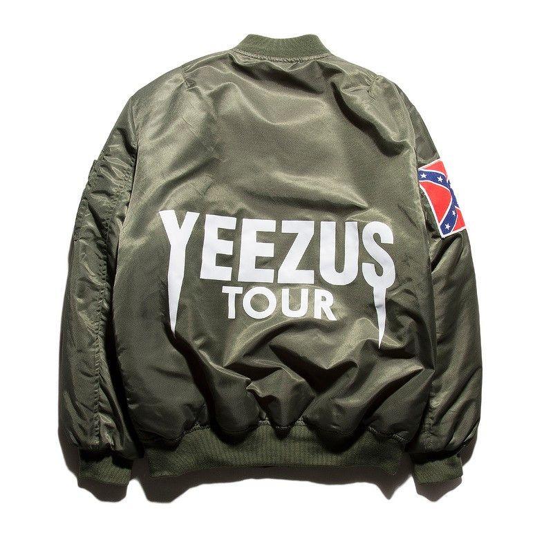 Yeezus Tour Bomber Jacket Kanye West Kanye West Jacket Mens Flight Jacket Flight Bomber Jacket