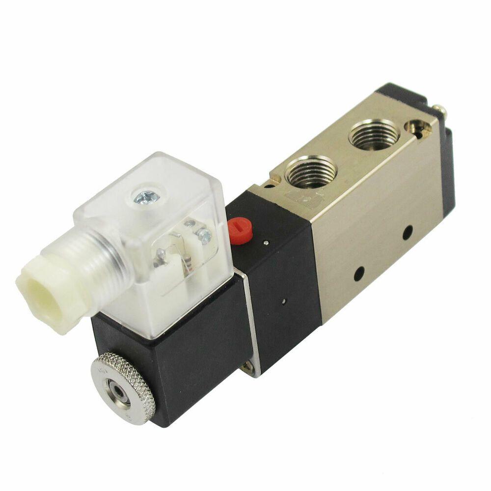 Details Sur Dc12v 3w 2positions 5voies Pneumatiques Pour Vanne Electro G1 8 G1 4 Pneumatique Vannes Plomberie