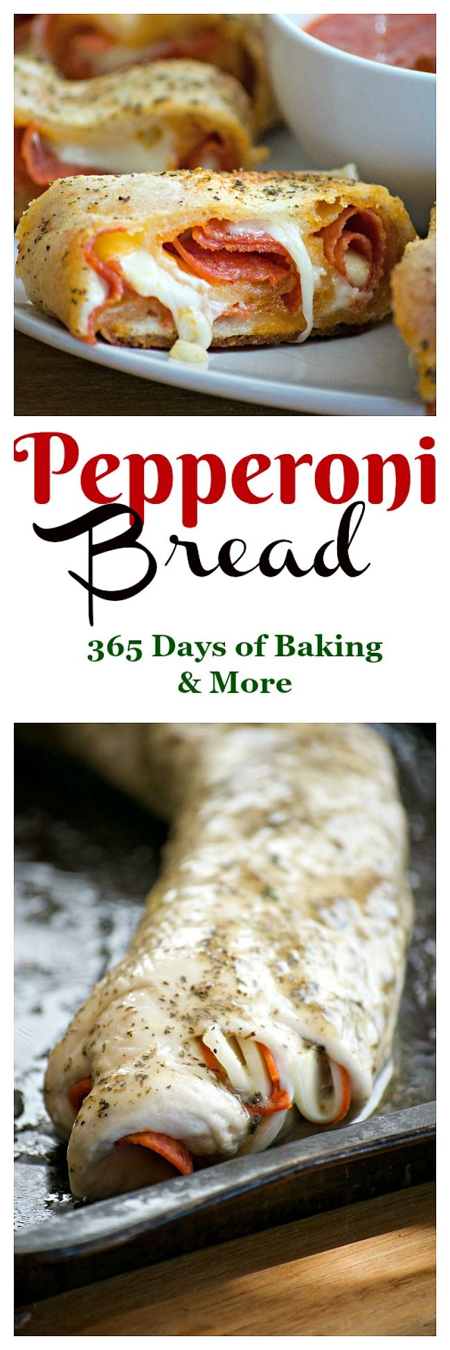 Pepperoni Bread - refrigerated pizza dough, pepperoni and provolone ...