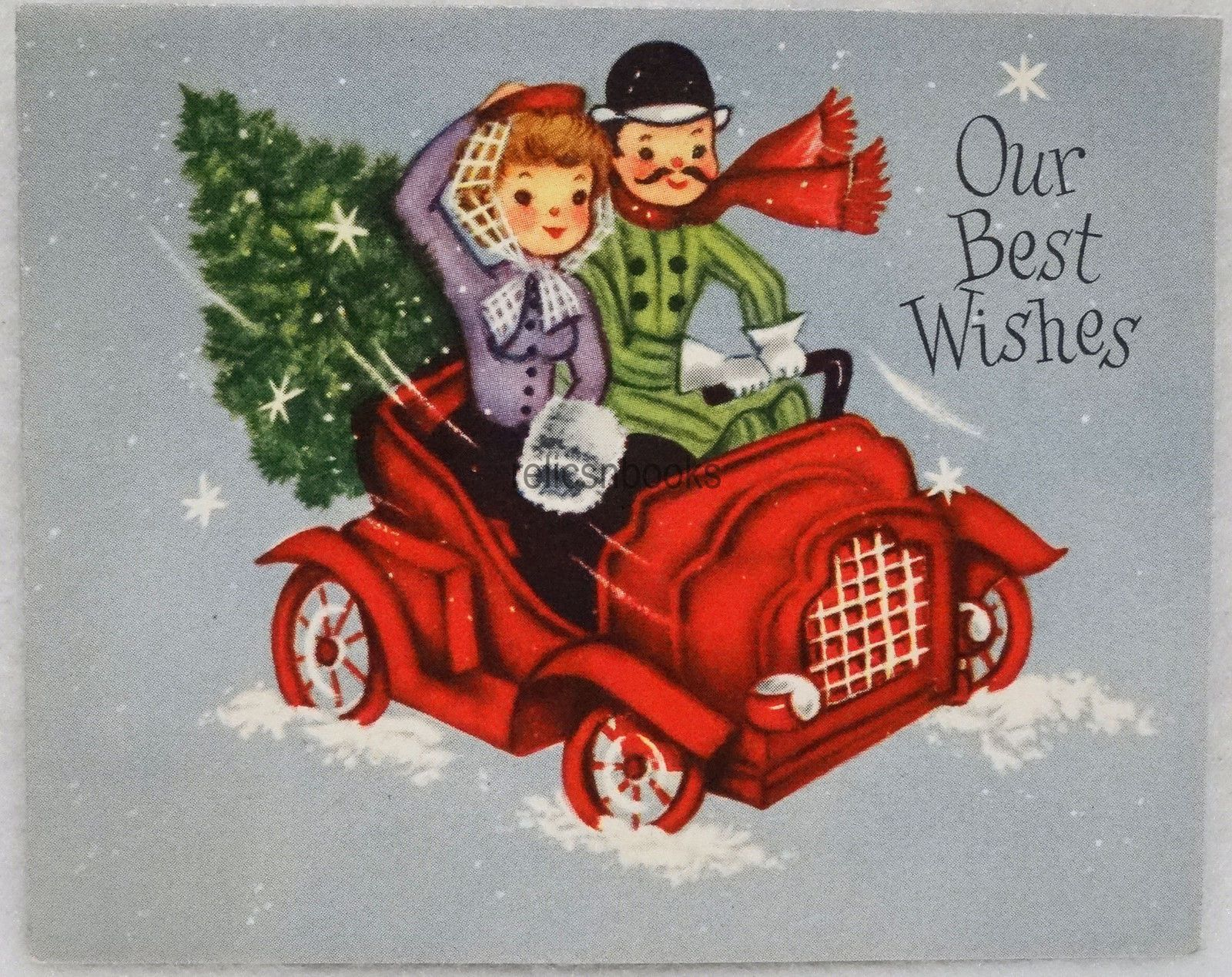 123 50s hauling the tree in the car vintage christmas card 123 50s hauling the tree in the car vintage christmas card greeting kristyandbryce Image collections