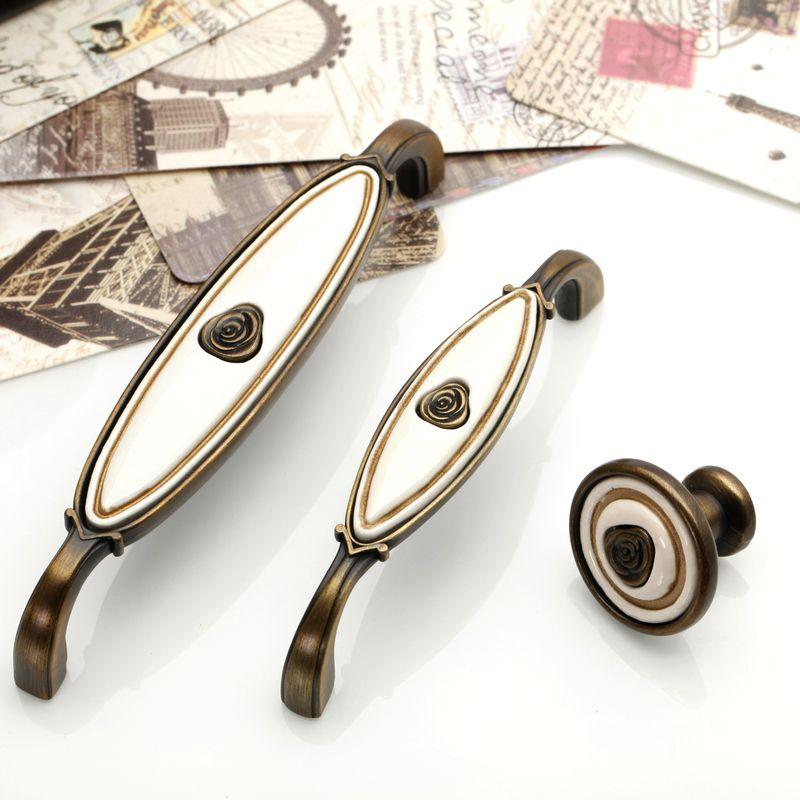 retro ceramic drawer handle pulls flower knobs kitchen cabinet rh pinterest com