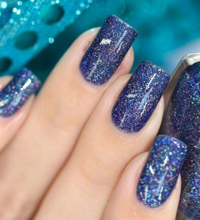 night light  deep blueviolet holographic sheer jelly