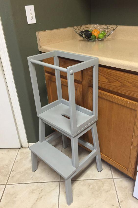 Montessori Kitchen Helper  Toddler Tower Step Stool