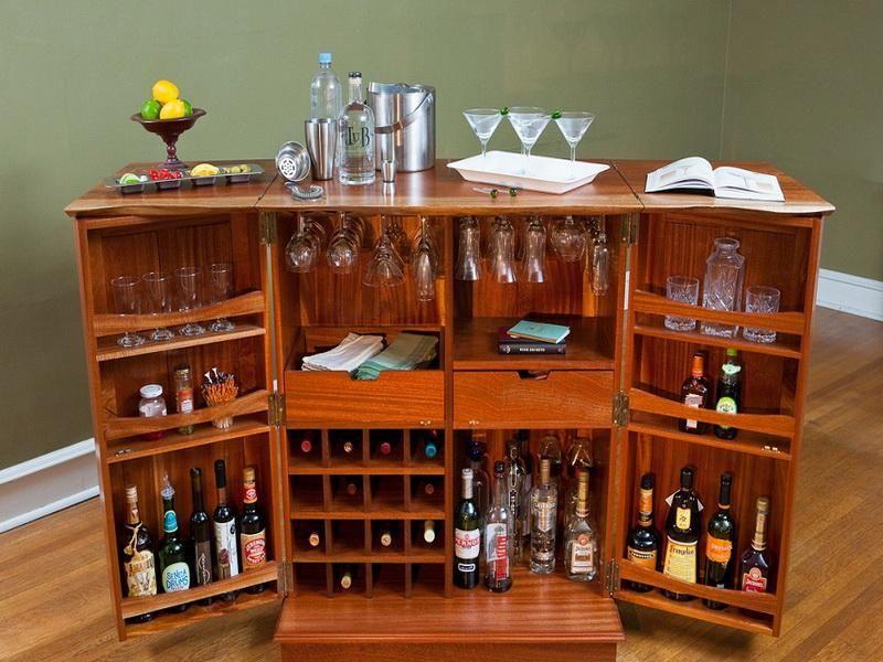 Custom Fold Out Bar Cabinet (800×600)