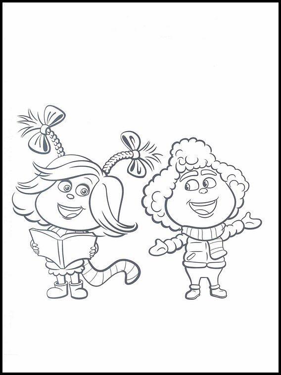 der grinch 3 ausmalbilder für kinder malvorlagen zum