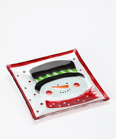 Take a look at this Red Snowman Icon Plate by Dennis East: Christmas Decorations on #zulily today!   LOVE LOVE LOVE!