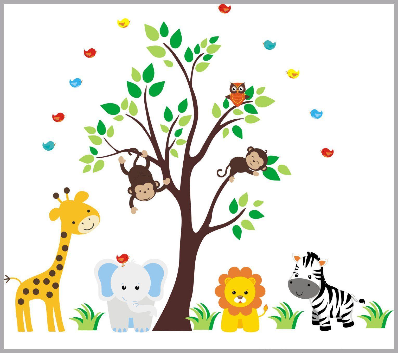 Nursery Wall Decals Animal Wall Stickers Wall Decals Nursery