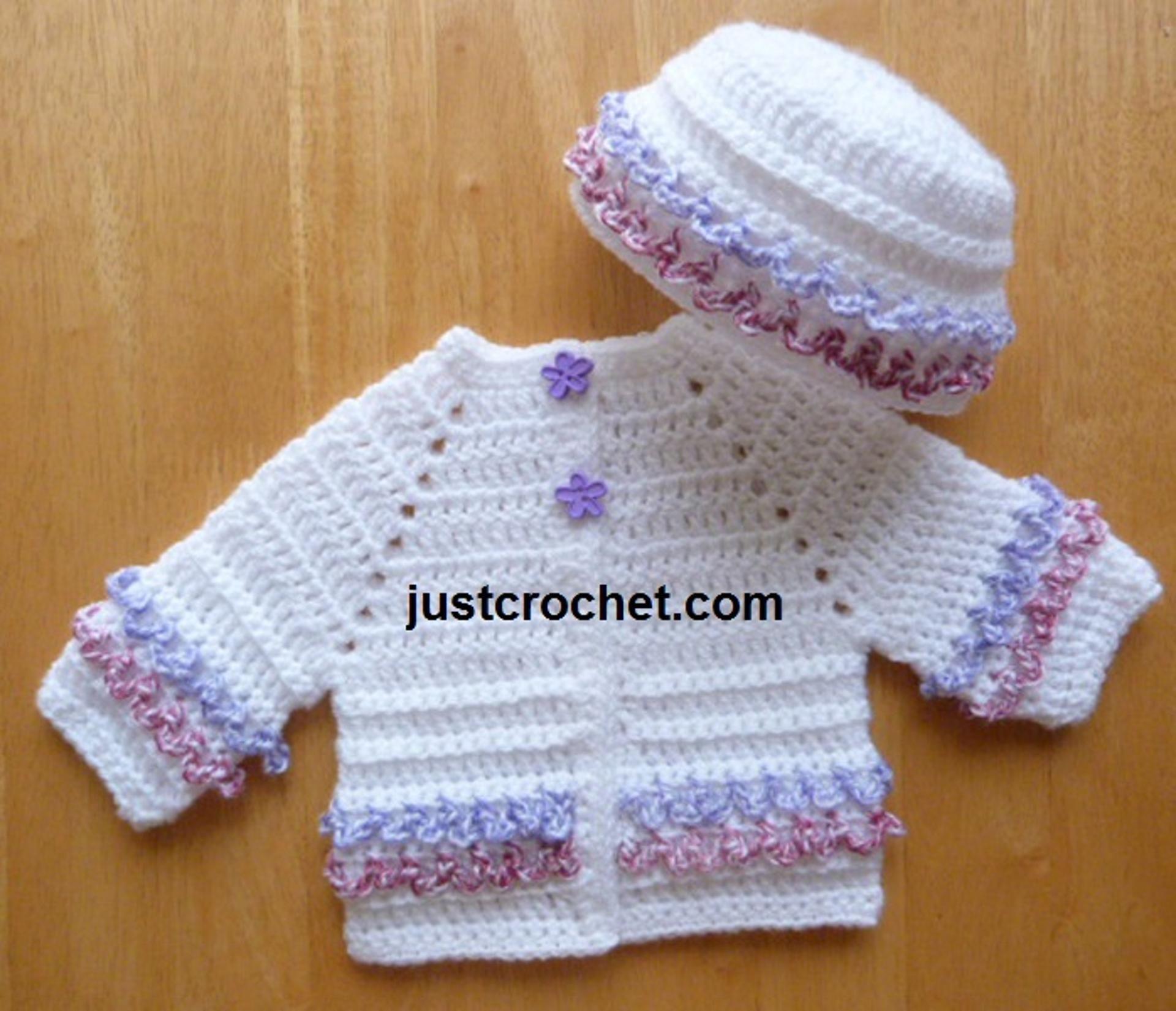 fjc109-Coat and Hat Baby Crochet Pattern | Craftsy | Crochet: Baby ...