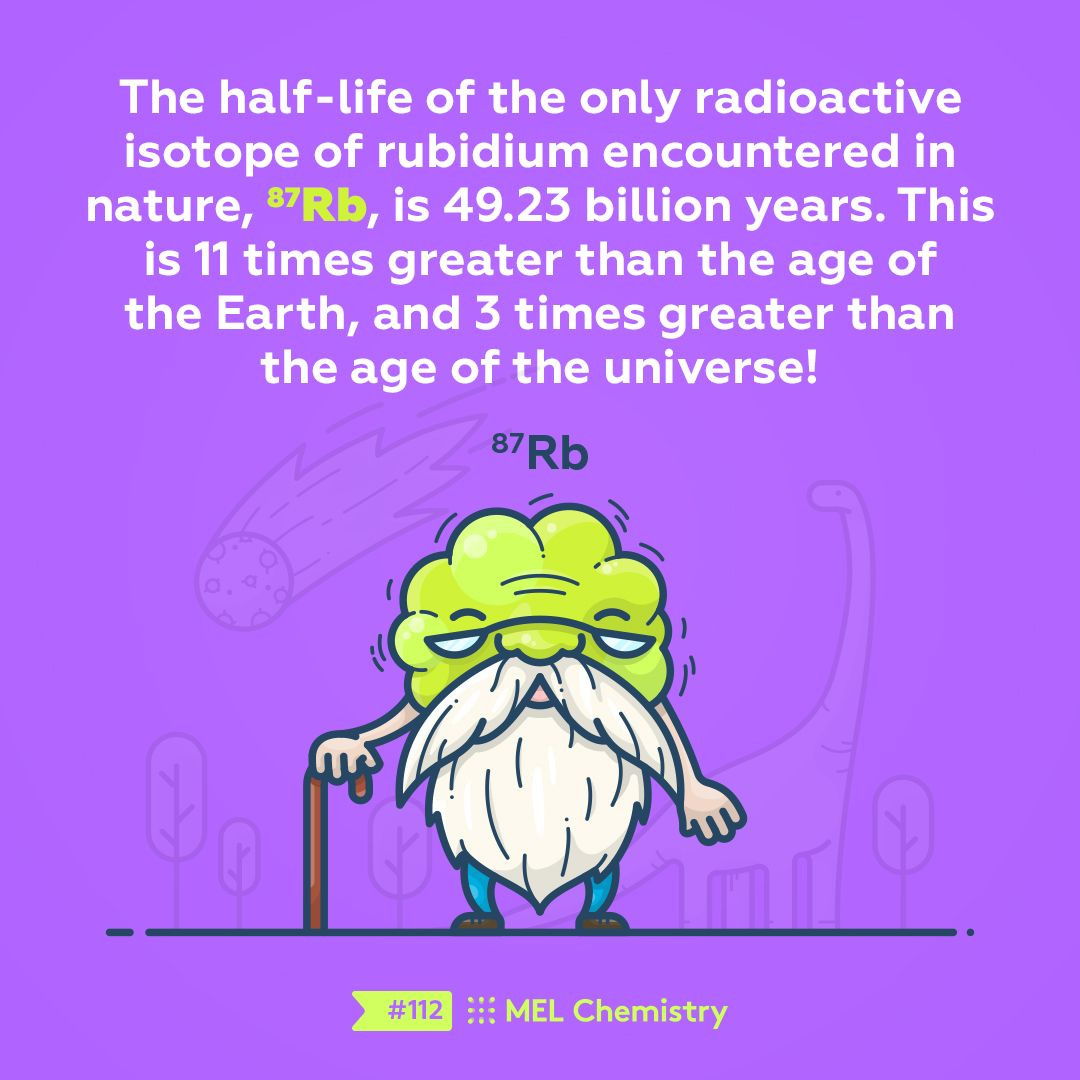 The Half Life Of The Only Radioactive Isotope Of Rubidium