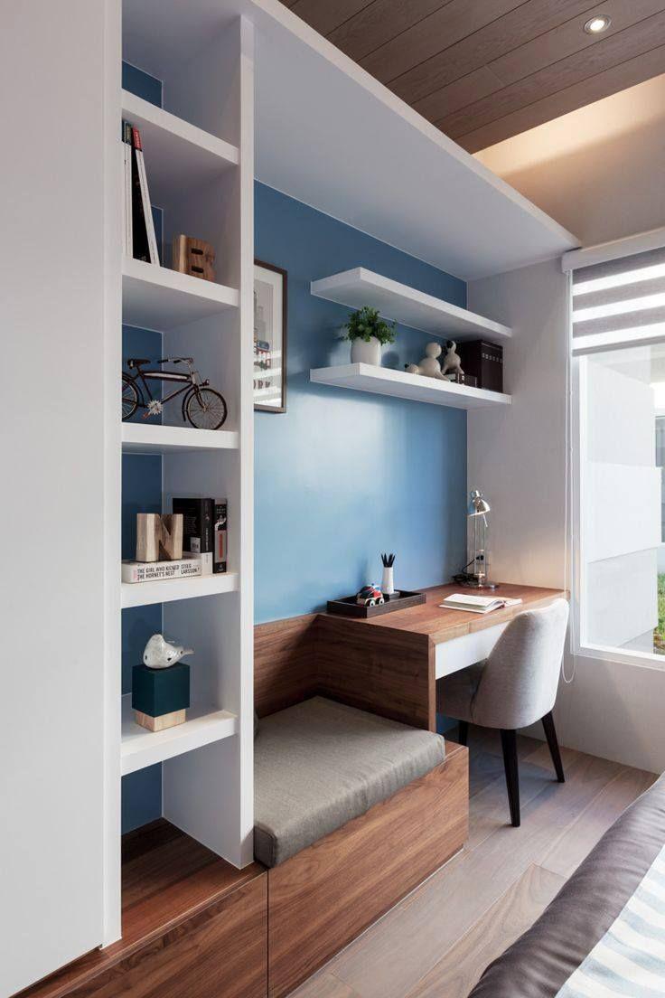 Idea escritorio en recamara ideas project pinterest for Recamaras con escritorio