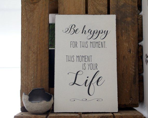 Schild Holz Be Happy for … Shabby Chic (11046)