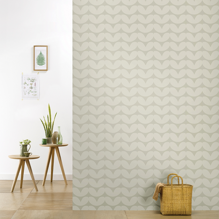 roomblush behang wallpaper hearts kaki behangpapier woonkamer