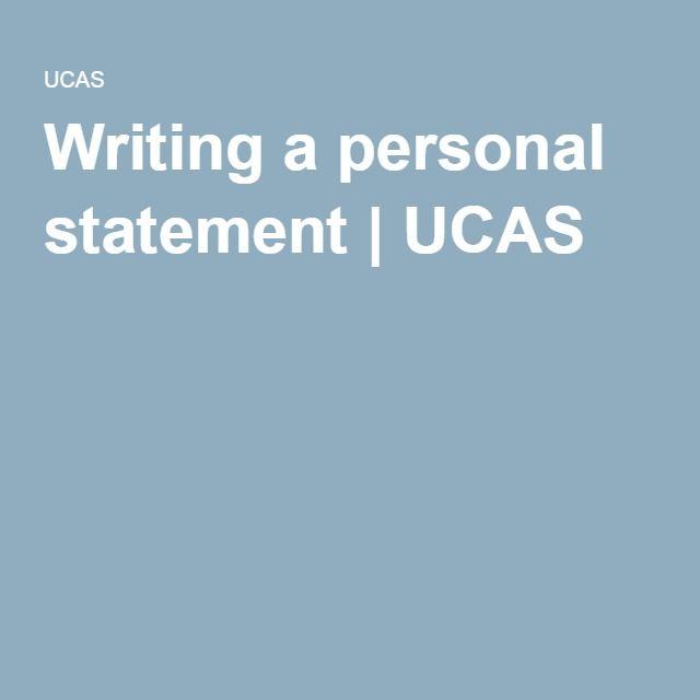 Writing a personal statement   UCAS   Personal statement   Pinterest ...