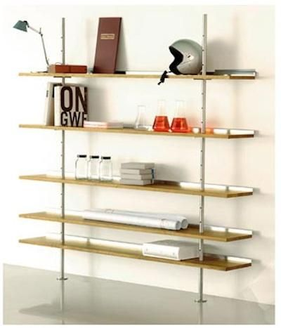 10 Easy Pieces Wall Mounted Shelving Systems Remodelista Shelving Wall Mounted Shelves Wall Mounted Shelving Unit
