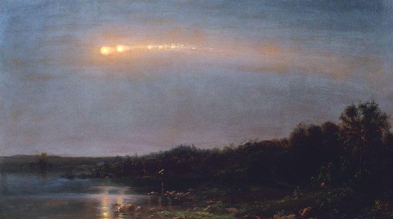 Frederic Edwin Church Meteor Of 1860 1860 Oil Collection Of Ms