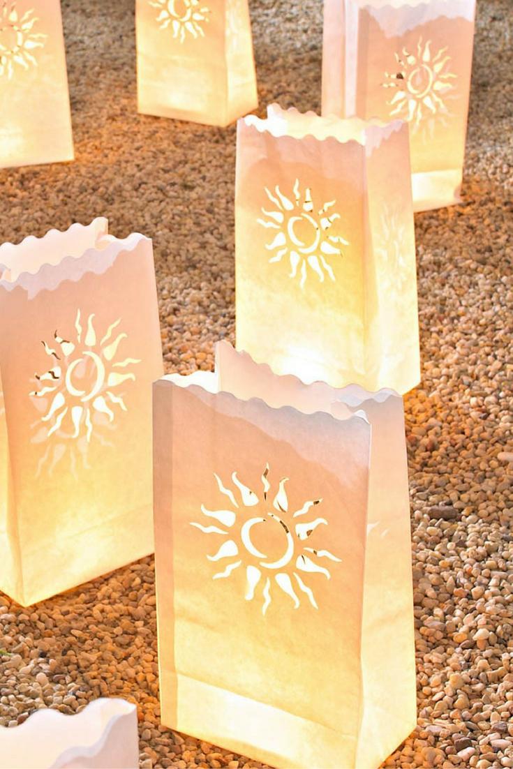 Traumhaft Schöne Lichtertüten Für Eine Romantische