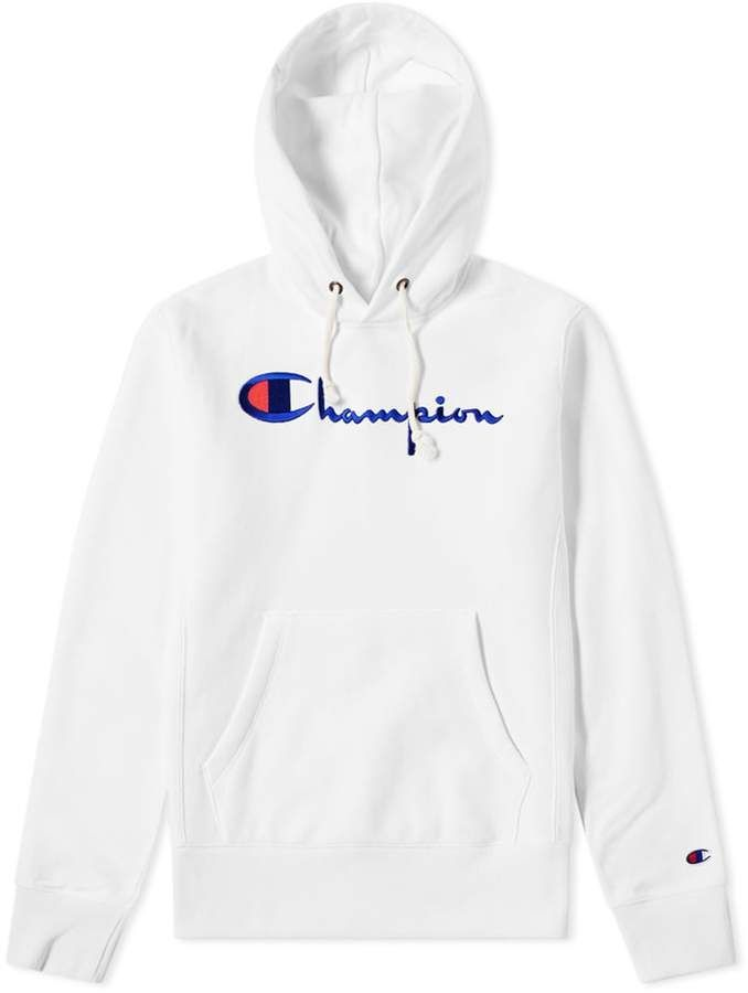 6c306fc167e2 Champion Reverse Weave Women s Logo Script Hoody White Outfits