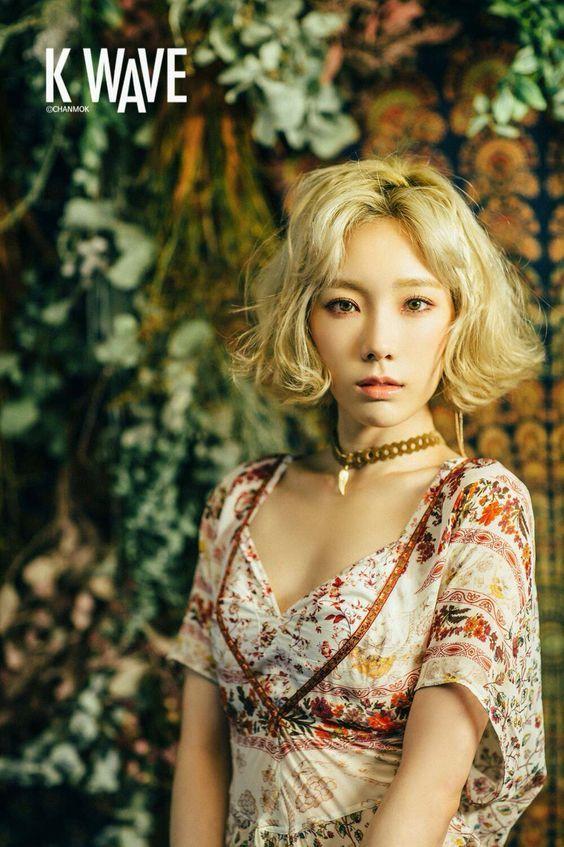 Korea Korean Kpop Idols Girl Group Band Tts Snsd Girls Generation Taeyeon Short Hair Bob Wavy Boho H Girls Generation Taeyeon Korean Hairstyle Taeyeon Fashion